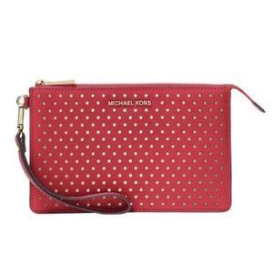 Michael Kors large flat leather phone case wallet